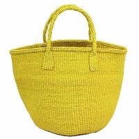 【対象商品】サイザルバッグ 黄 9インチ