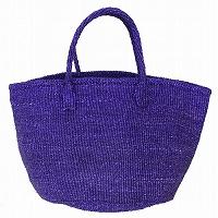【対象商品】サイザルバッグ 紫 12インチ