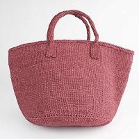【対象商品】サイザルバッグ赤 12インチ
